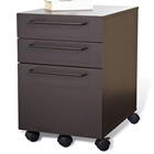 3-Drawer Mobile Pedestal - Espresso