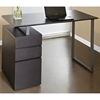 Contemporary Pedestal Desk - Espresso