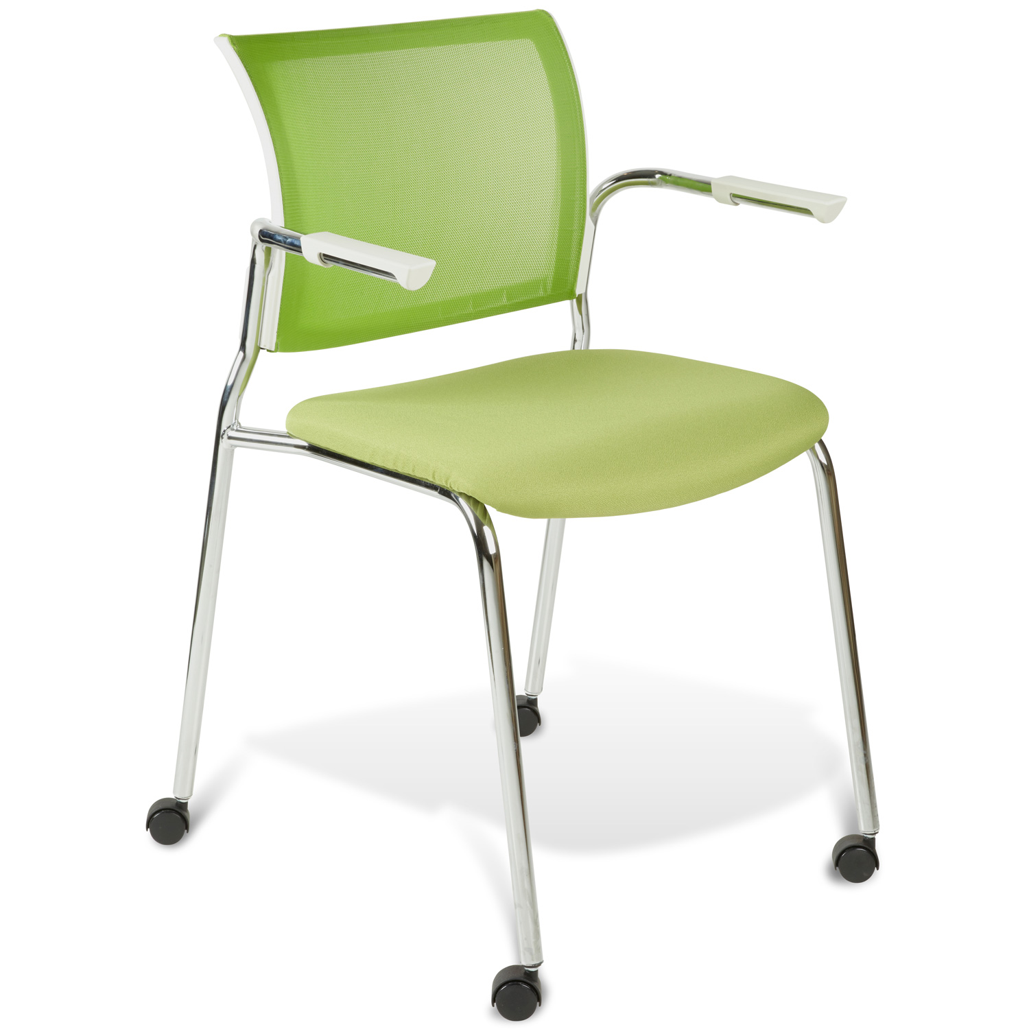 Jenna Conference Chair - Casters, Stackable, Green