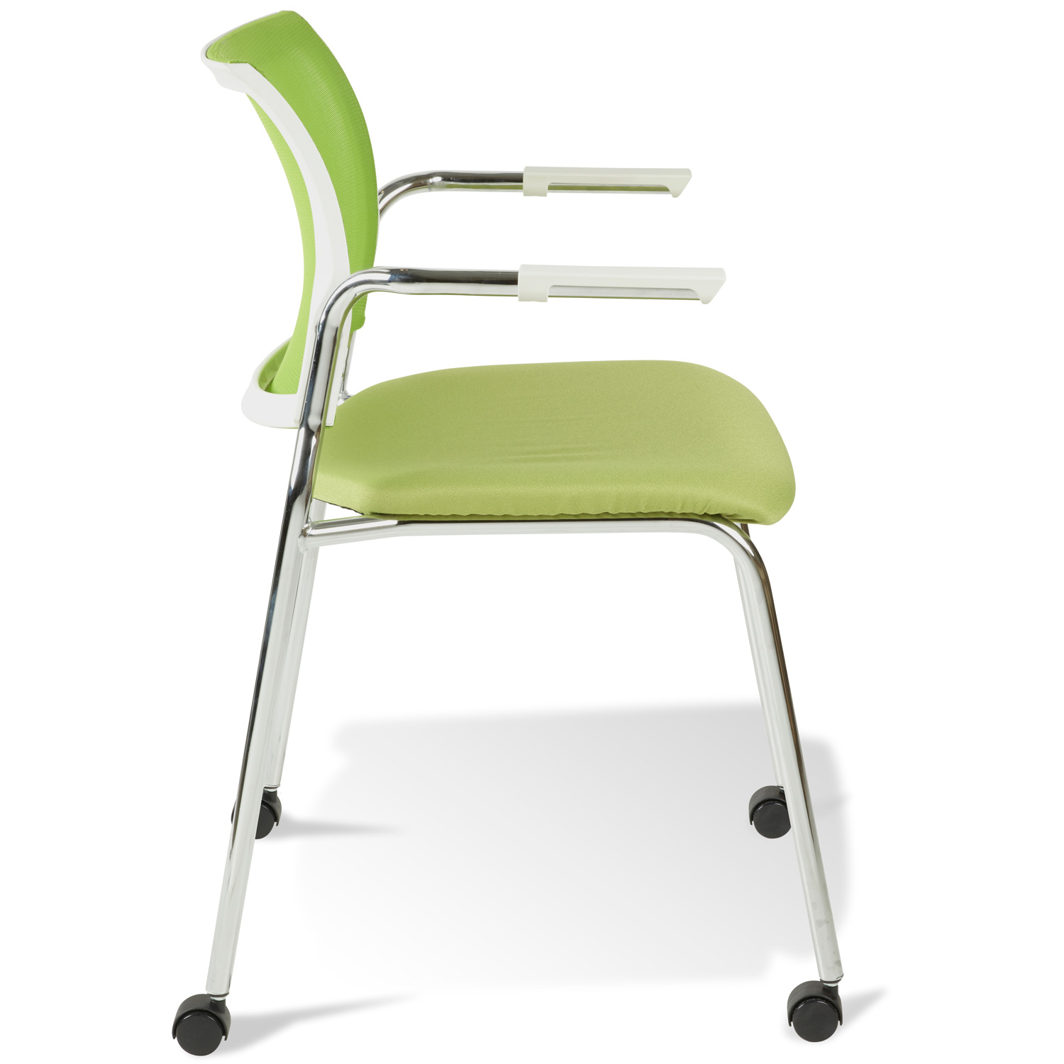 Jenna Conference Chair - Casters, Stackable, Green - UNIQ-X5358