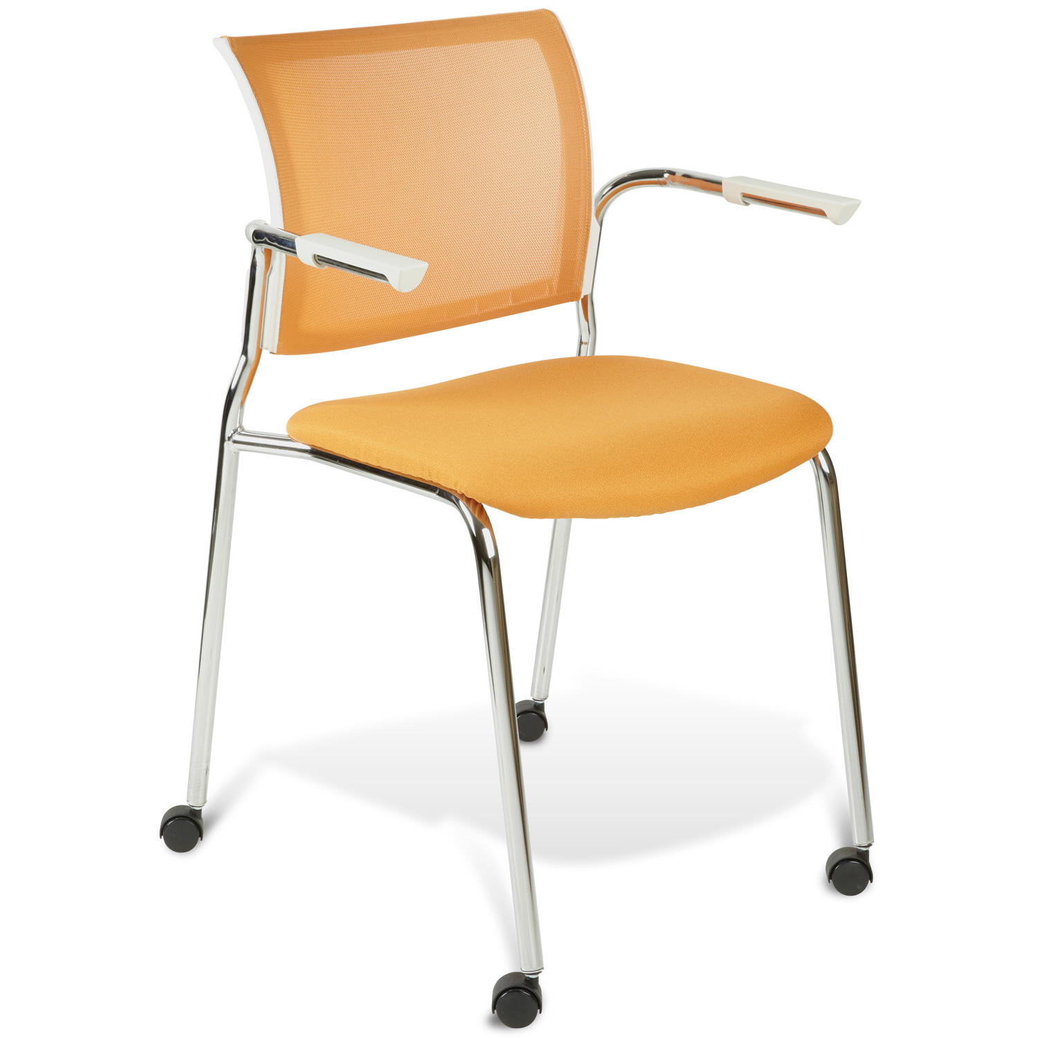 Jenna Conference Chair - Casters, Stackable, Orange