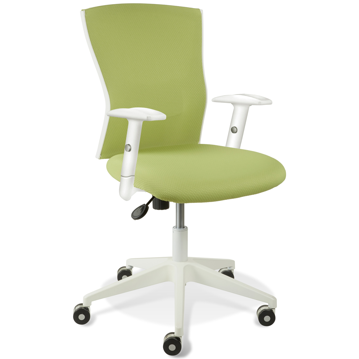 Sanne Office Chair - Tilt, Adjustable Arms, White & Green