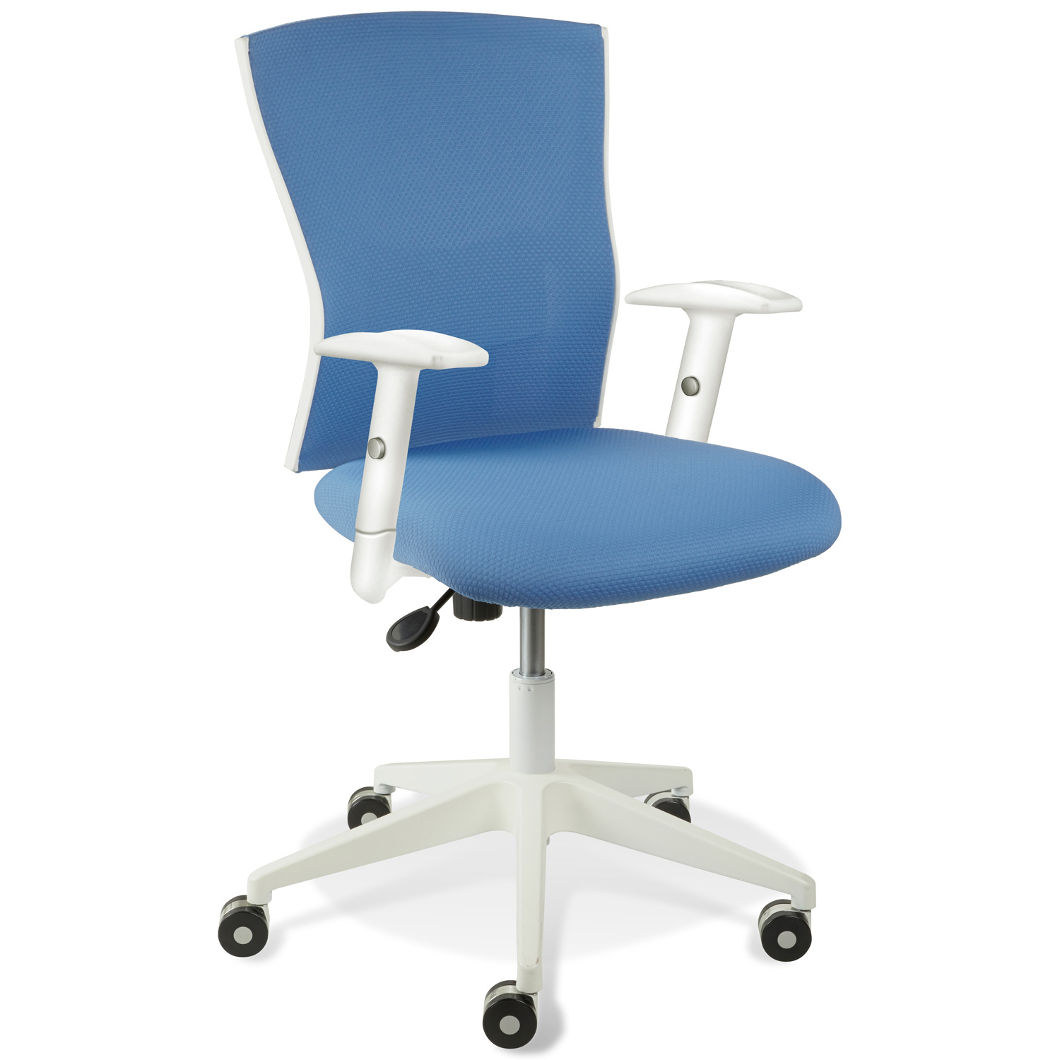 Sanne Office Chair - Tilt, Adjustable Arms, White & Blue - UNIQ-X5368-5364