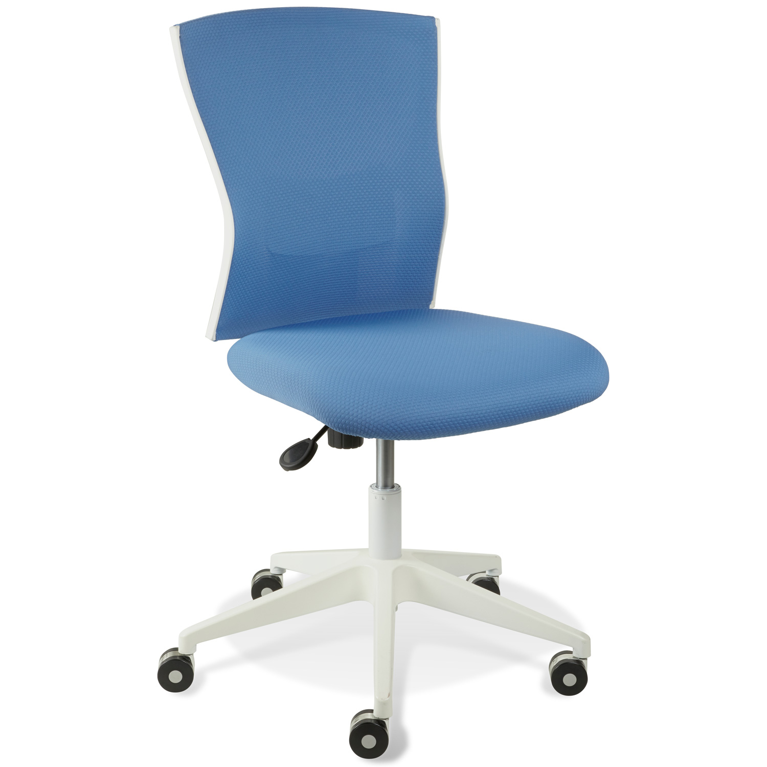 Sanne Office Chair - Blue Mesh Back & Fabric Seat
