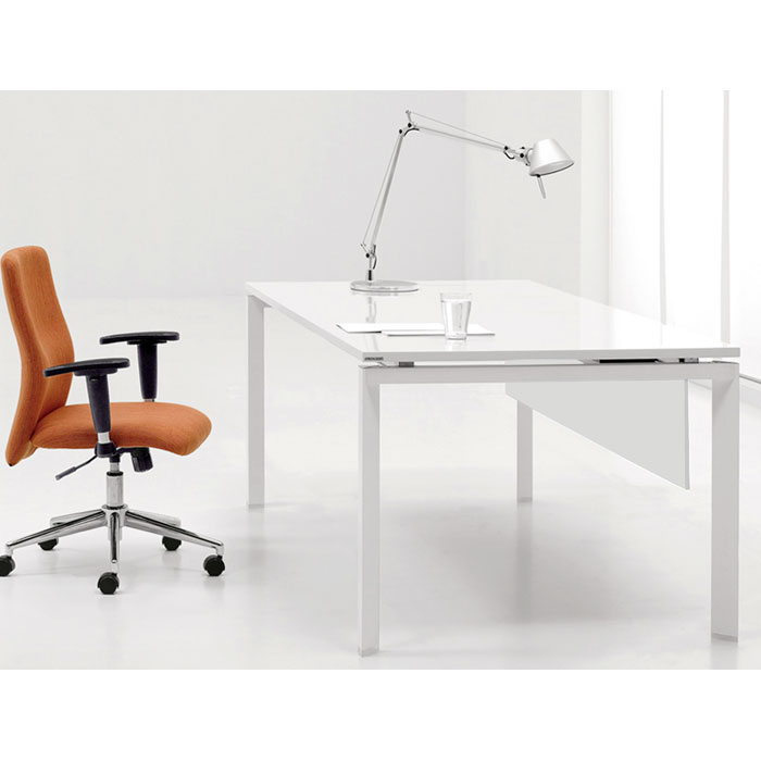Pearl Office Work Desk in White - UNIQ-585-WH