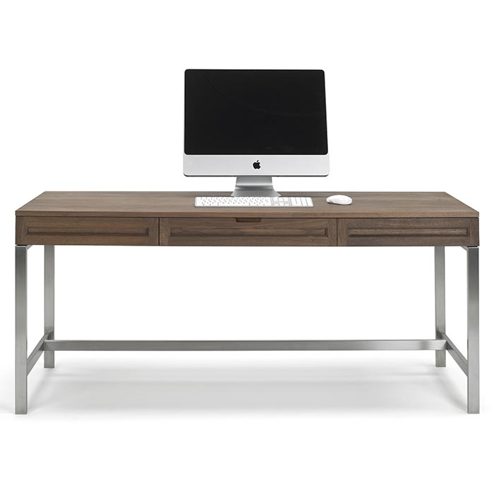 Timberland 64-Inch Desk with Brushed Aluminum Legs