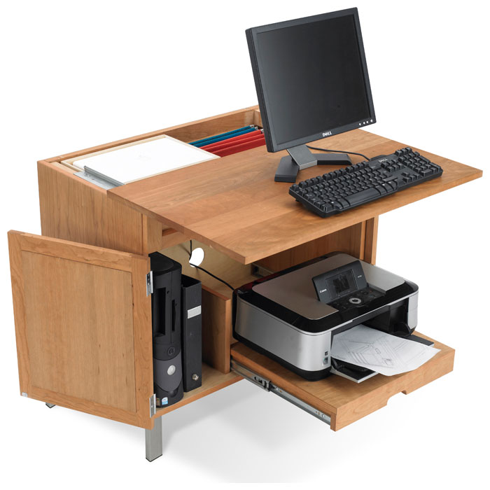 Timberland Computer Desk with CPU and Printer Storage