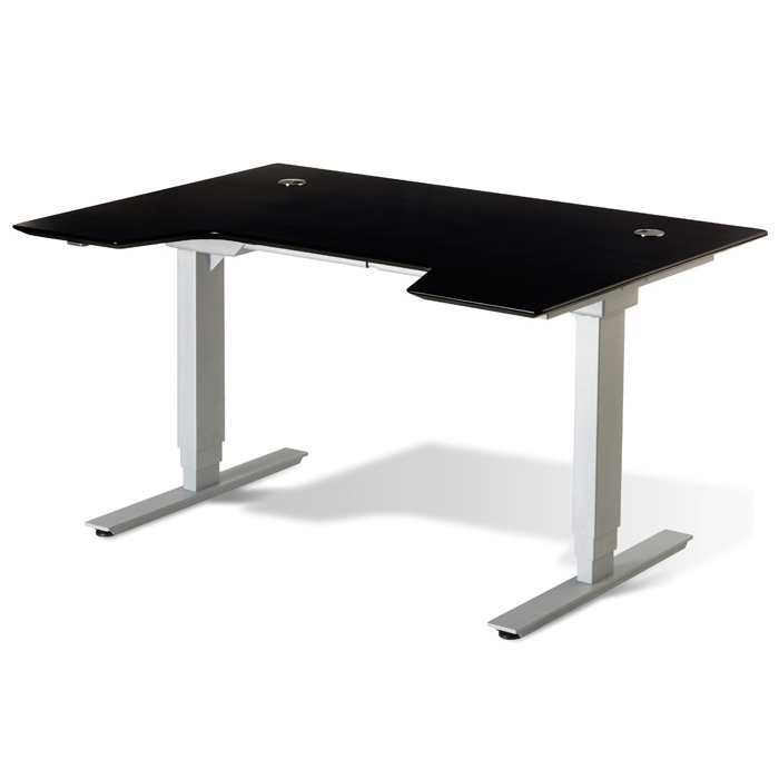 Sit & Stand Adjustable Height Desk - Espresso - UNIQ-X76532-ESP