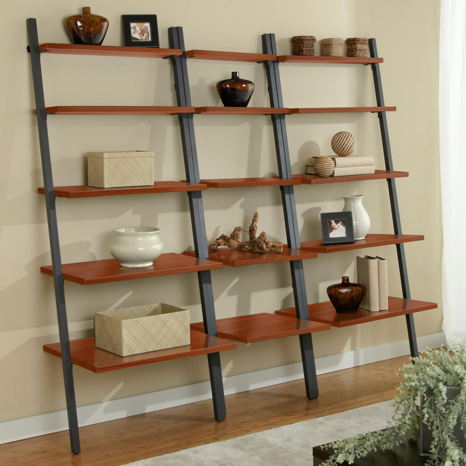 Parson Ladder Wall Display System - Steel Frame, Cherry