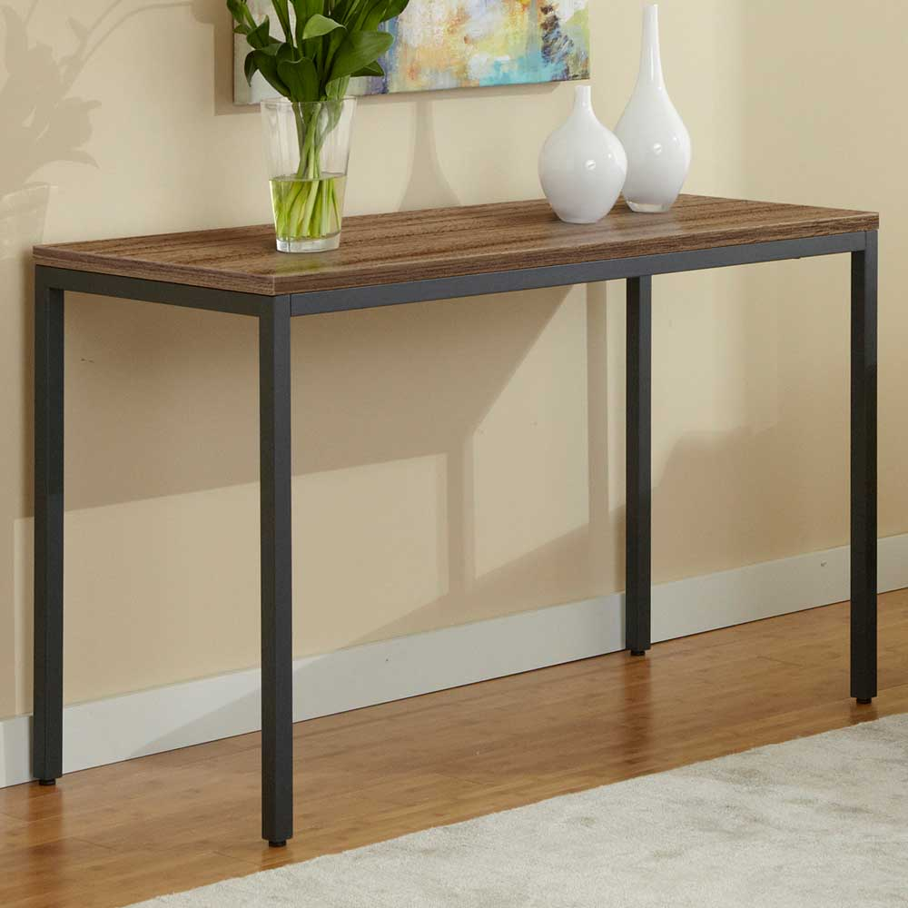 Parson Console Table - Steel Legs, Walnut Top