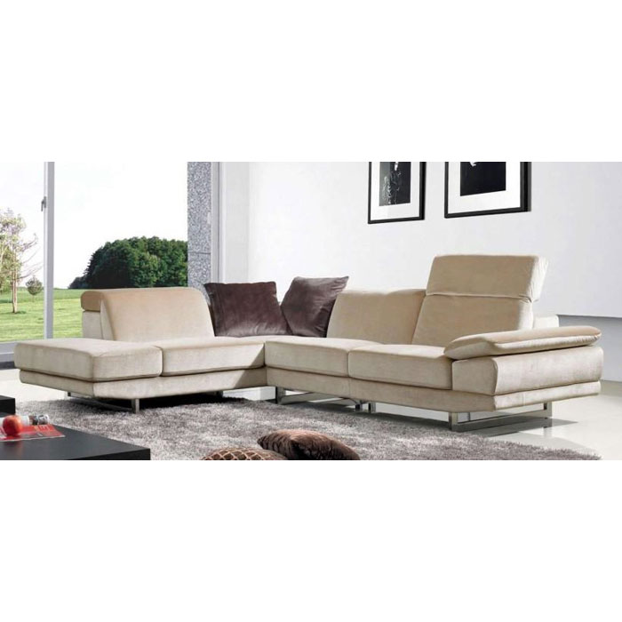 Hazel Fabric Chaise Sectional Sofa