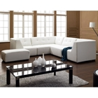 Ernestine Modern Leather Sectional in White