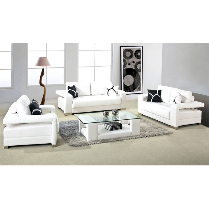 Lindell Modern Leather Sofa, Loveseat, and Chair - VIG-D2926-BL