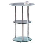 Afton Round Glass Bar Table