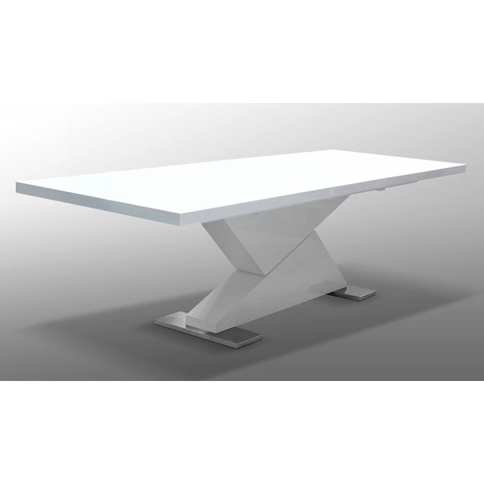 Bono White Dining Table with Extension