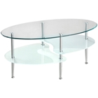 "38 Wave Dual Oval Coffee Table Walker Edison 38"" Wave Dual Oval Coffee Table C38B4"