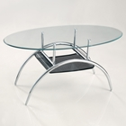 "42 Black Mesh Oval Coffee Table 42"" Black Mesh Oval Coffee Table C42BM"