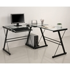 3 Piece Imperial Desk (Black) Walker Edison 3 Piece Imperial Desk (Black) D51Z29