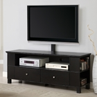 60%27%27 Wood TV Console with Mount and Multi-purpose Storage - Black