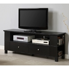 60%27%27 Wood TV Console with Multi-purpose Storage - Black