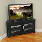 Castillo 44 Inch Corner Wood TV Stand in Black