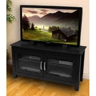 TV Stand - 44 Inch Columbus Wood TV Stand in Black