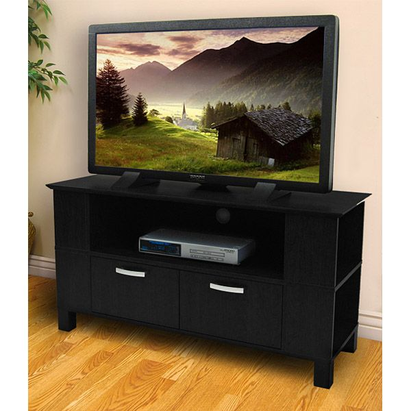 TV Stand - 44 Inch Coronado Wood TV Stand in Black - WAL-W44CMPBL