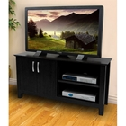 TV Stand - 44 Inch Cordoba Wood TV Stand in Black