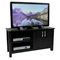 TV Stand - 44 Inch Cordoba Wood TV Stand in Black - WAL-W44COSBL