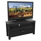 TV Stand - 44 Inch Cortez Wood TV Stand in Black