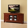 52 Inch TV Stand with 4 Doors in Brown