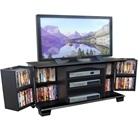 Jamestown 60 Inch Wood TV Stand in Black