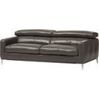 Vogue Bonded Leather Sofa - Pewter Gray