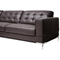 Babbitt Sectional Sofa - Brown Leather, Left Facing Chaise - WI-1365-SECTIONAL-LFC-DU206