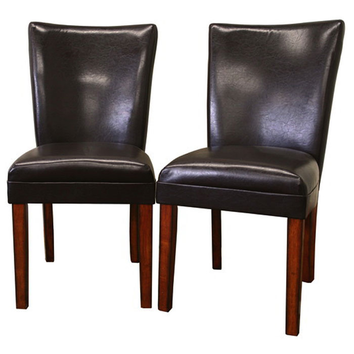 Sofi Dark Brown Leather Dining Chair