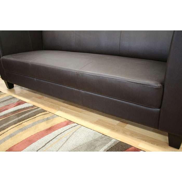 Boyle Dark Brown Sofa and Chair Set - WI-3055-206