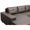 Corbin Chaise Sectional Sofa - Tufted, Chrome Steel Legs, Brown - WI-308-SECTIONAL-BROWN-LFC