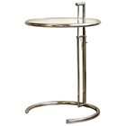 Eileen Gray Round Glass Top End Table