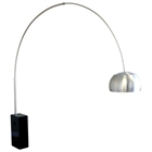 Arco Cube-Shaped Marble Base Floor Lamp
