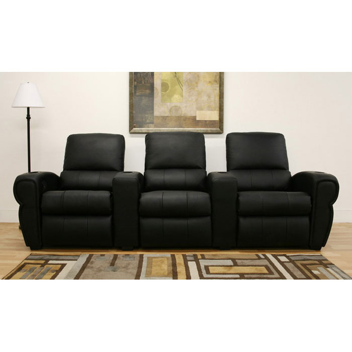 Moondance 3-Seat Home Theater Seating in Black - WI-695