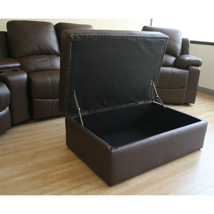 Paramount Curved Row Leather Home Theater Seating - WI-8802-X-7PC