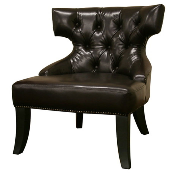 Taft Leather Wing Chair