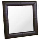 Harvey Square Espresso Brown Leather Mirror