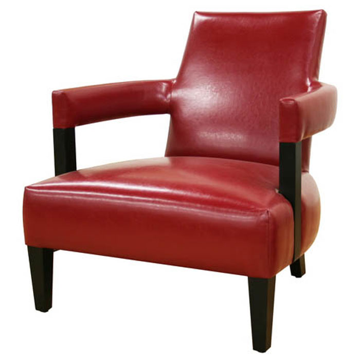 Kenorah Red Leather Club Chair