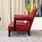 Kenorah Red Leather Club Chair - WI-A-732-067