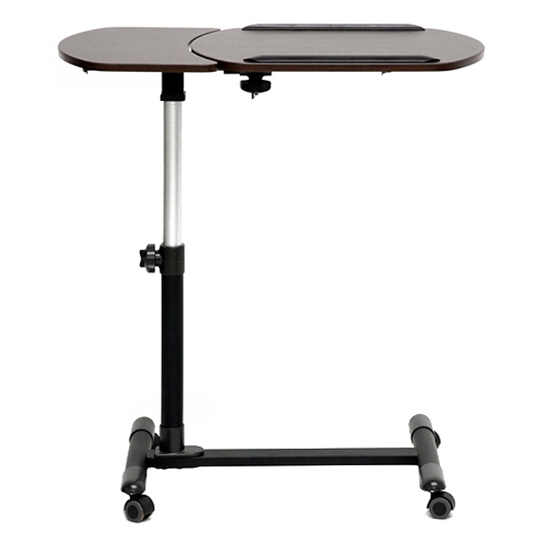 Olsen Adjustable Laptop Tray Table - Wenge, Tilt Control, Casters - WI-AA-10T-1-WENGE-DESK