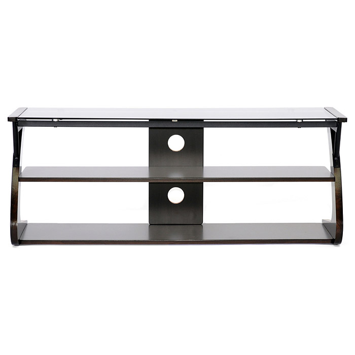 Sculpten 45'' TV Stand - Tempered Glass Top, Black Steel Support - WI-AA-TV-10-WENGE-TVS
