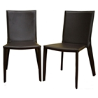 Semele Stackable Chocolate Brown Leather Dining Chair