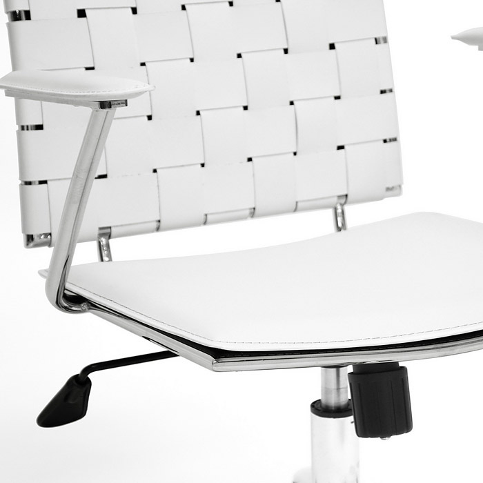 Vittoria Adjustable Swivel Office Chair - Tilt, Casters, White Leather - WI-ALC-1866C-WHITE-OC