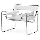 Jericho Marcel Breuer Inspired Accent Chair - White Leather